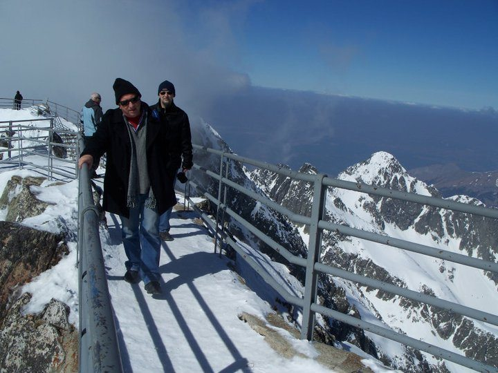 On top of the highest mountain in Slovakia