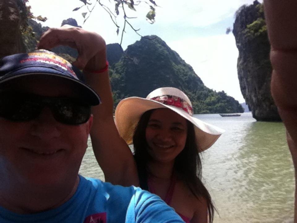 "this selfie was taken on ""james bond"" island near phuket, thailand"