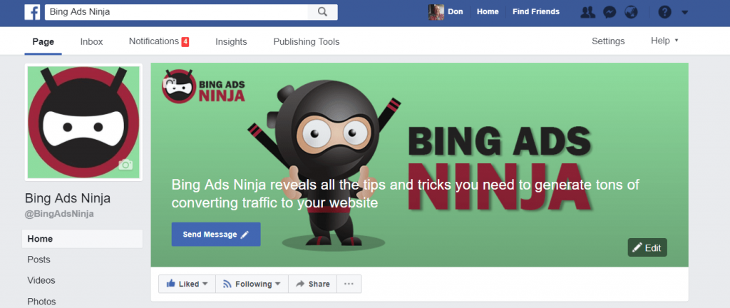 How To Set Up A Facebook Business Page - bing ads ninja