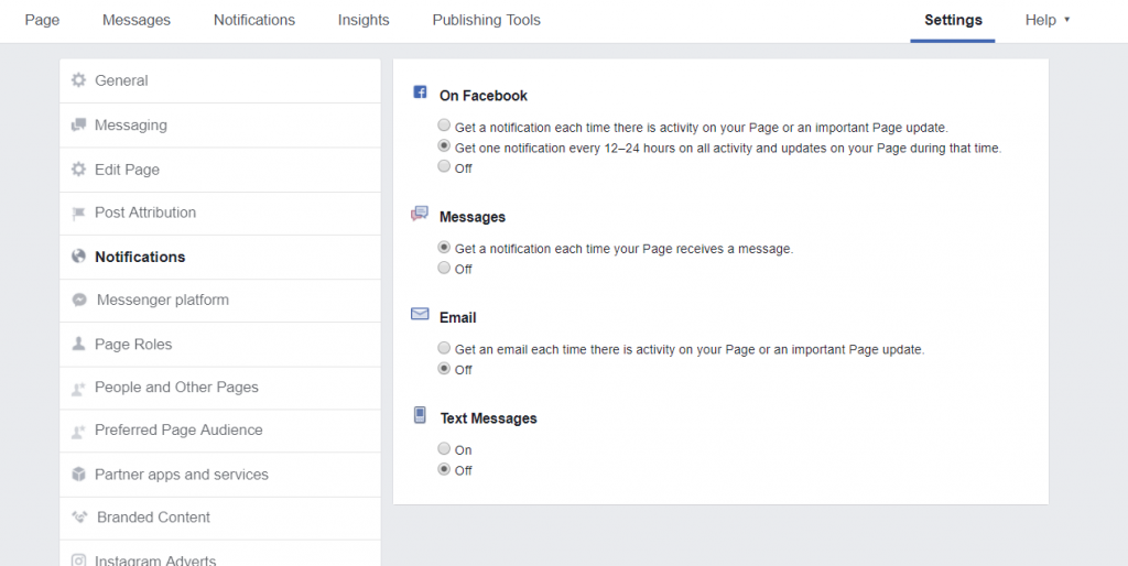 How To Set Up A Facebook Business Page - notifications