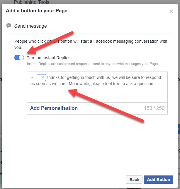 How To Set Up A Facebook Business Page - send message