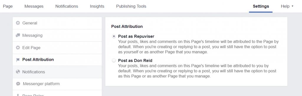 How To Set Up A Facebook Business Page - page attributions