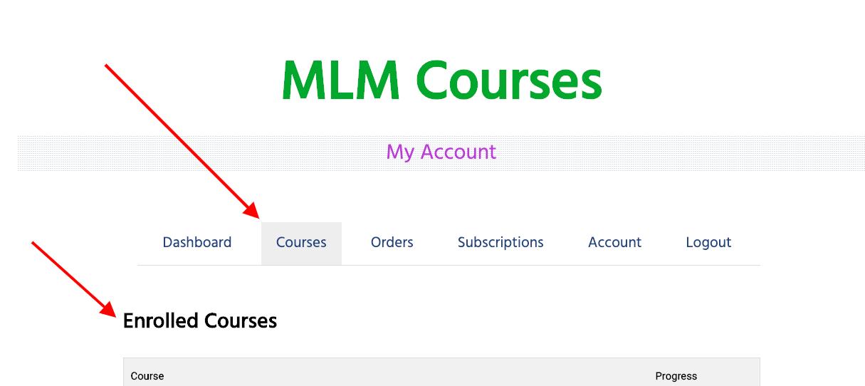 MLM Training - Courses